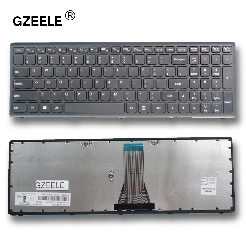 GZEELE English New Laptop Keyboard For LENOVO G500S G505S S500 Z510 Z505 US Replacement NOTEBOOK Keyboard BLACK