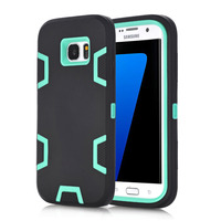 WeFor Case For Samsung Galaxy S7 Edge Shockproof Hybrid Armor Rubber Heavy Duty Stand Phone Case