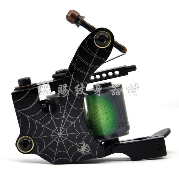 ФОТО Spider Web Style Tattoo Shader Gun 8 Wrap Coils Supplies Super powered tattoo machine professional variegating equipment BD1037