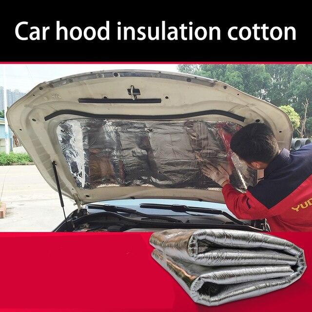 US $29 23 21% OFF lsrtw2017 free shipping Car hood engine noise insulation  cotton for bmw e46/e39/e90/e36/e60/f30/f10/e30/x5 e53/e34 x3 x1 x5 x6-in