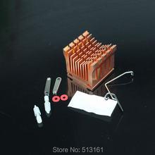 5 Pieces Cooling Heat sinks Aluminum Cooler Heatsink DIY Northbridge Golden
