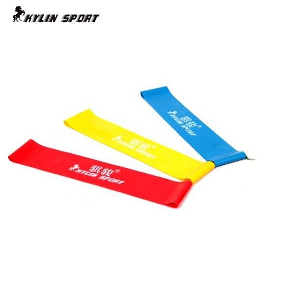 three color Set of 3 combination latex resistance bands workout excercise pilates yoga bands loop wrist ankle elastic belt