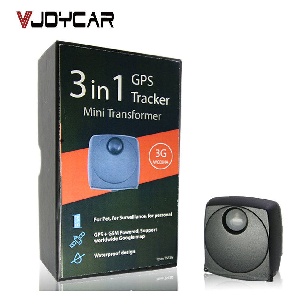 VJOYCAR T633G Worldwide Usage 3G Mini GPS Tracker Portable Waterproof Long Battery Life Maximum 7 Working Days vjoycar tk10sse 10000mah rechargeable removable battery