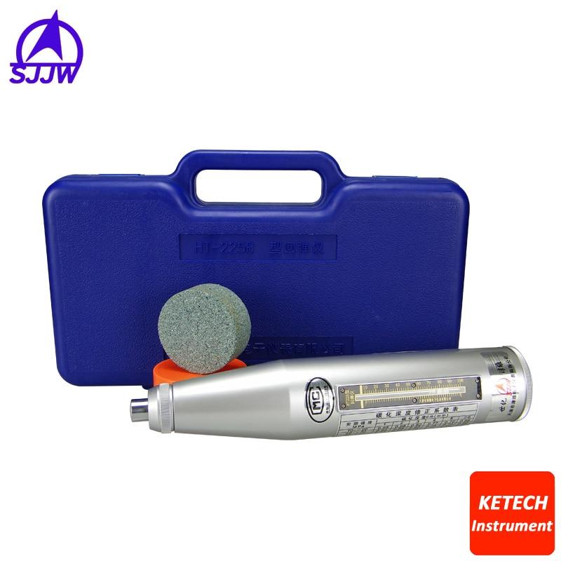HT225 High Quality Resiliometer Concrete Rebound Hammer Tester Concrete Rebound Test Schmidt Hammer Engineering Plastics Case