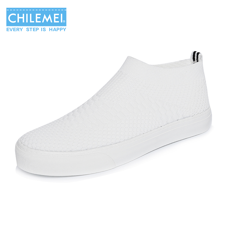CHILEMEI Nest Women Shoes Spring Autumn Soft insole Flat Shoes Slip on Student's Fashion Canvas Shoes Breathable Trainer Newest fashion boutique beige rubber soft front insole for ladies fit any shoes