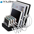 YILON 8 Ports Desktop Charging Station 8*2.4A Multi Quick USB Charger Dock Station With Stand Power adapter for Family Office
