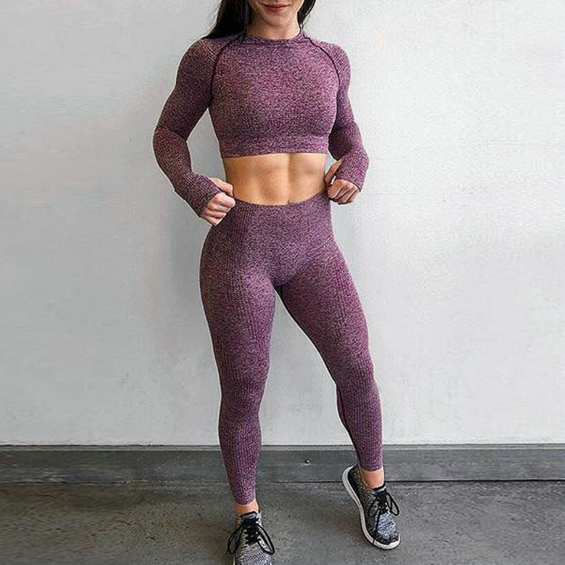 Solid High Waist Tight Yoga Pants for Womens