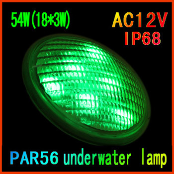 Unique Couleur IP68 LED Piscine Lumière 12 V LED Sous-Marine lampe PAR56 54 W (18*3 W) étang Lumière Éclairage Extérieur Livraison Gratuite