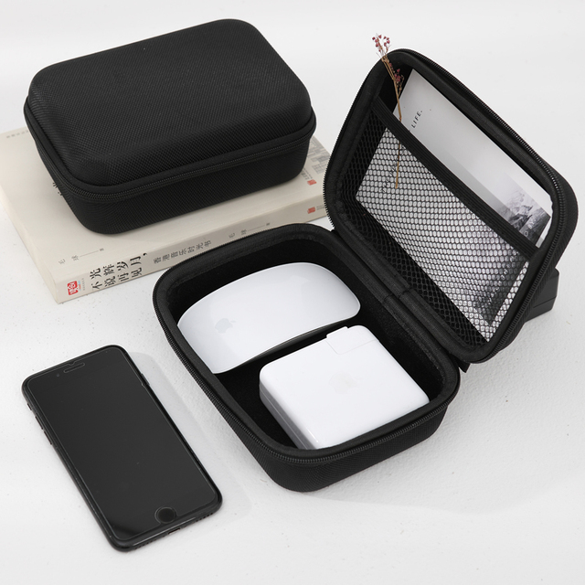 Travel accessories waterproof EVA plastic protective cover Mouse headset data cable Apple computer charger storage consolidation