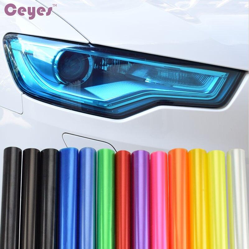 Decoración Para el coche 30cm x 100cm, luz DIY para el faro y la luz trasera, tinte de vinilo, pegatinas para lámpara, luz de freno de automóvil, accesorios de estilismo para el coche