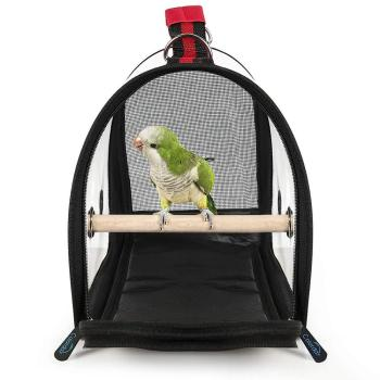 1KG Portable Bird Cage Macaw Bag with Wooden Standing Stick Foldable Breathable Bird Bag Two-way Ventilation Parrot Cage 3