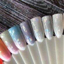 Láminas de espejo de cristal roto de 100cm x 4cm, pegatinas de papel para decoración para la belleza de las uñas