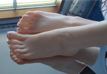 Young sexy girl's silicone feet sex toy foot fetish toys porn real skin sex dolls rubber solid realistic for male sex machines