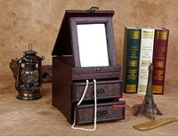 Old China RoseWood Drawer Combined Cabinet Dressing Mirror case Storage box Chest Jewellery case