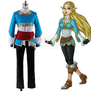 La leyenda de Zelda Breath of The Wild líder disfraz de cosplay para mujer para Halloween de Z1001