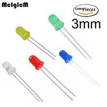 Mcigicm 22000 個赤色発光ダイオード赤赤 3 ミリメートル led 白黄青緑