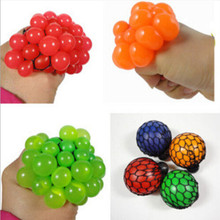 KID Squishy Mesh Ball Grape Squeeze Toy Gag Gift Novelty in Sensory FRUITY PLAY Vent Toys Gags