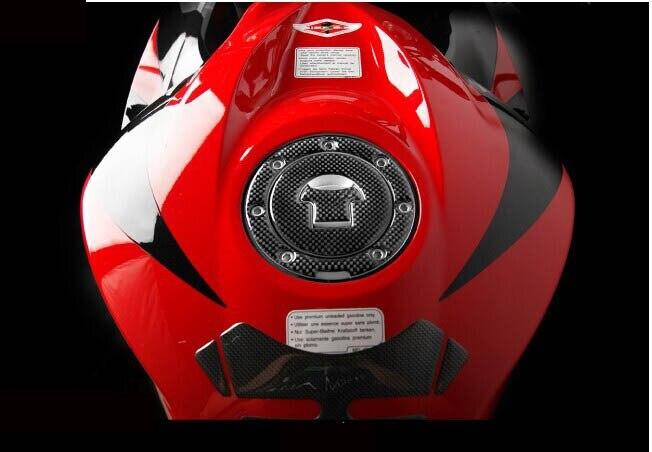 Tappo Serbatoio ADESIVI 3D CARBONIO PROTEZIONE per MOTO VFR RVF X 11 CB750 CB1300 CB 1 VTR in Car Stickers from Automobiles Motorcycles