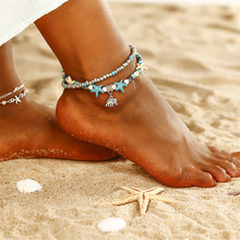 ECODAY Foot Chain Boho Elephant Anklet Leg Bracelet Anklets For Women Leg Chain Charm Ankle Bracelet Summer Beach Jewelry summer beach turtle shaped charm rope string anklets for women ankle bracelet woman sandals on the leg chain foot jewelry