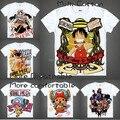 2015 ONE PIECE Luffy Chopper Robin camiseta Anime japonês famoso animação novidade de verão dos homens t-shirt Cosplay roupas