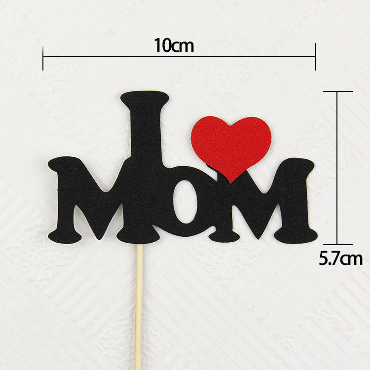 Cake Flags Cupcake TE QUIERO Cake Topper I LOVE MOM / DAD Toppers - Para fiestas y celebraciones - foto 5