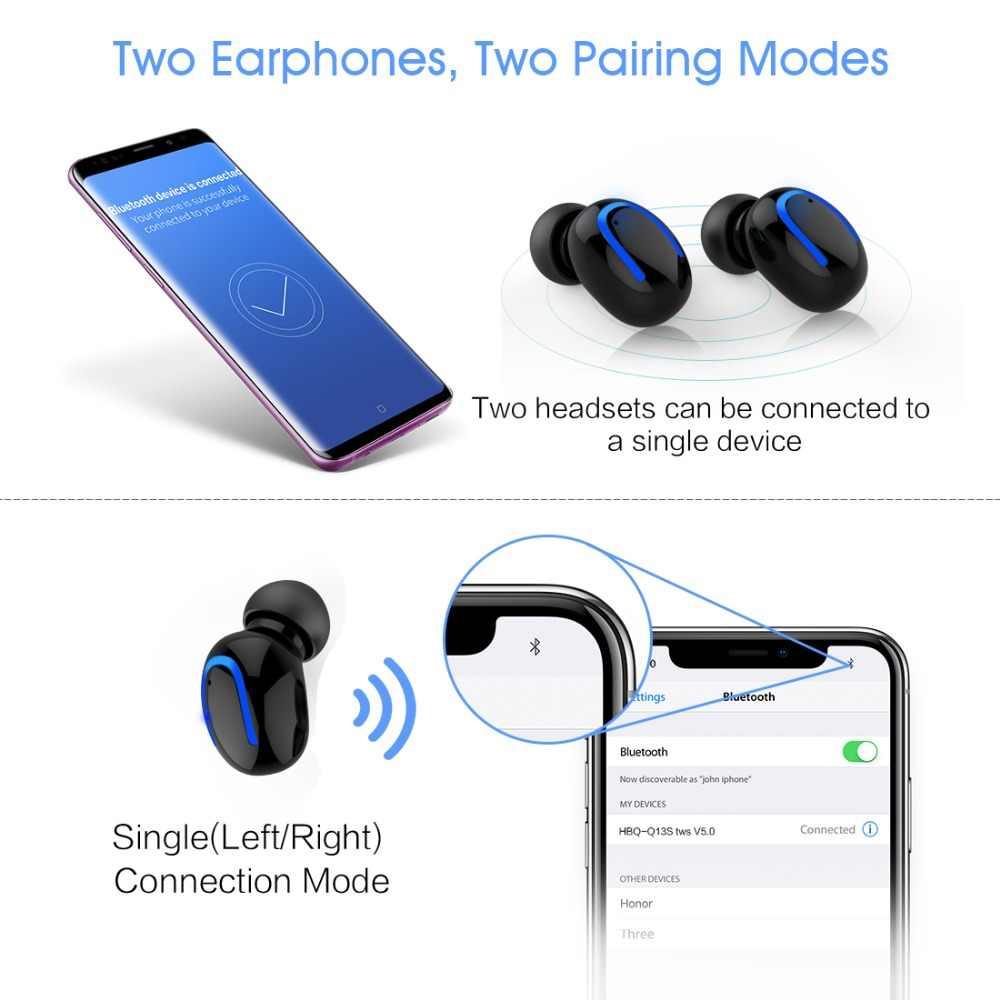 Оригинальный слог HBQ-Q13S TWS Bluetooth V5.0 стерео спортивные наушники 5 часов настоящий беспроводной стерео слог HBQ-Q13S TWS 600 мАч