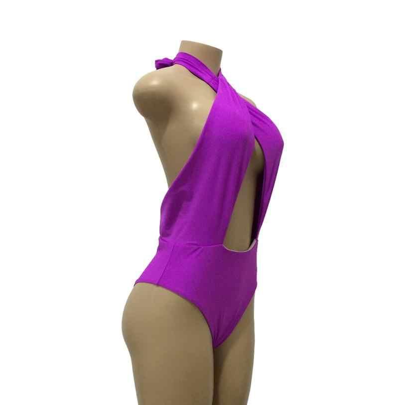 KANCOOLD боди сексуальный Фристайл нагрудный модный латексный сексуальный женский цельный сплошной купальник пуш-ап Мягкий однотонный APR20