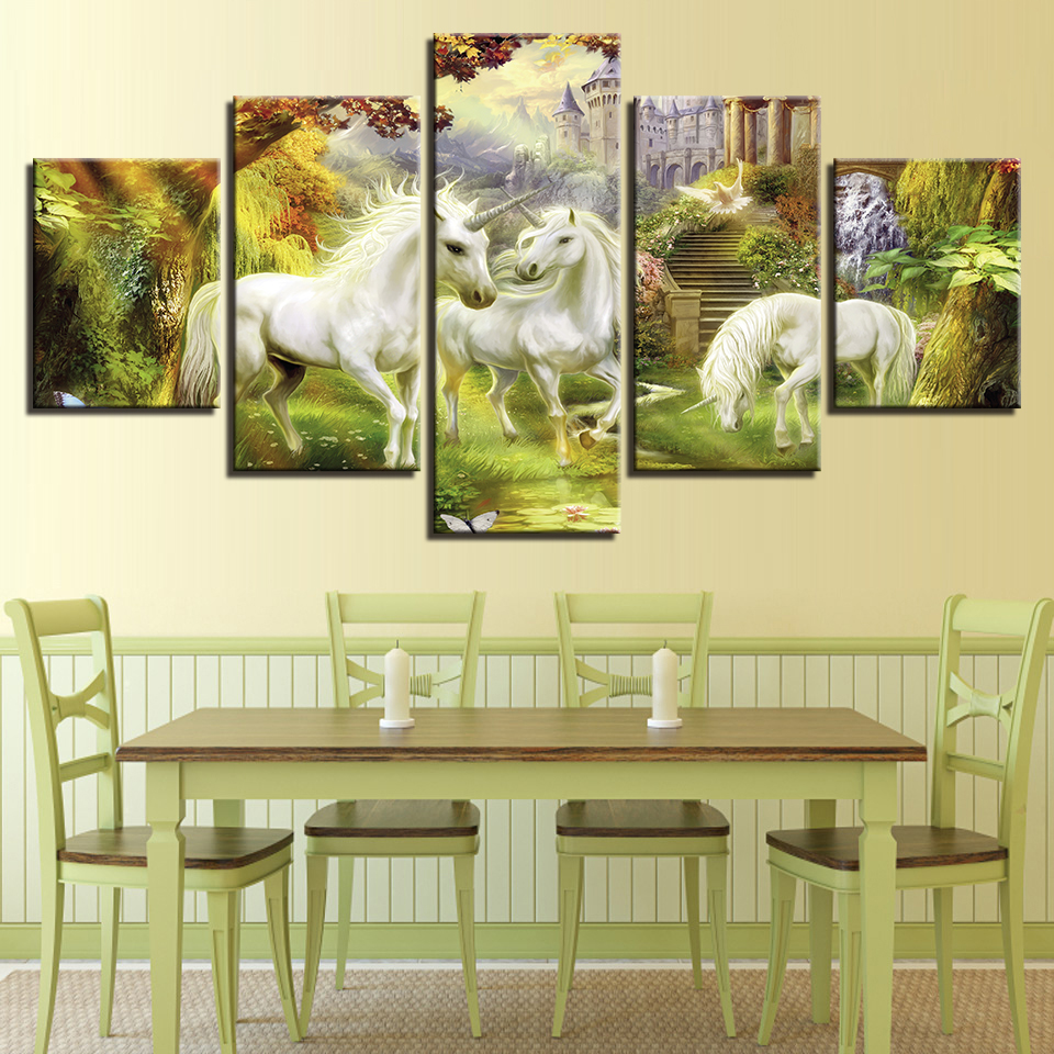 Painting Canvas Home Decor Wall Art Modular Fashion 5 Panel The ...