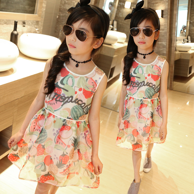 454dd29d33 Girls Dresses 2016 Summer Beach Baby Dress 4-14 Years Kids Holiday Clothing  Party Clothes For Child Vestido Mujer Vetement Fille