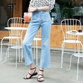 Fashion Women Plus Size Jeans Wide Leg Cozy Blue Loose Denim Pants Casual High Waist Brand Trouses Female Straight 9591