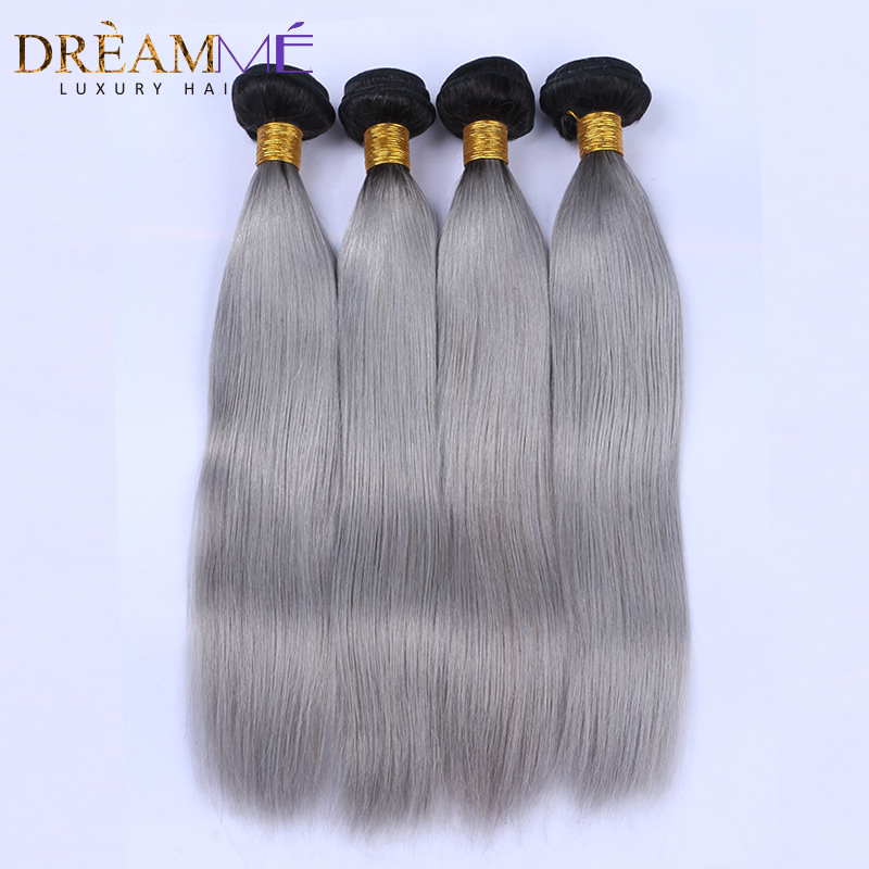 1b green human hair extension (1)