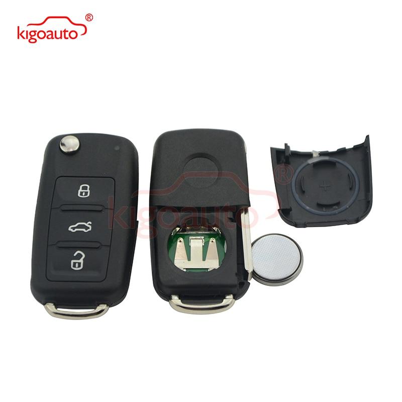 5K0837202AD Tasta de la distanță 3 buton HU66 434Mhz 5K0 837 202 AD pentru tasta VW Passat Polo Golf Jetta Beetle 202AD cheie kigoauto