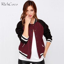 RICHCOCO Euramerican Style Fashion Women Jackets Bump Color Pockets Decorative Patchwork Jackets Long Sleeved Cot Outwear D677