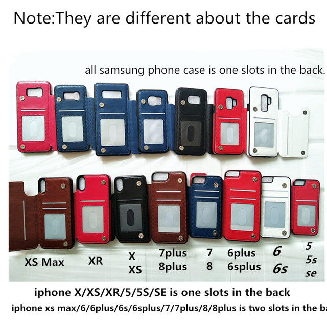 iPhone Leather Flip Wallet Photo Holder phone case for iPhone