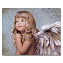Angel Girl Picture Frameless or Framed Quadros De Parede Sala Estar Canvas Oil Paintings DIY Digital By the Number Decorative