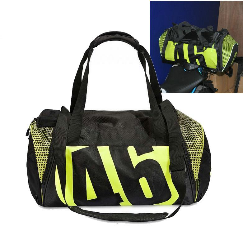 2018 new VR46 motorcycle rear seat backpack Baotou helmet bag riding Backpack Bag Luggage Backpack box