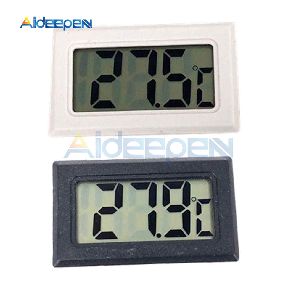 Embedded LCD Digital Thermometer for Freezer Temperature Sensor Meter -50~110 Degree Refrigerator Fridge Thermometer
