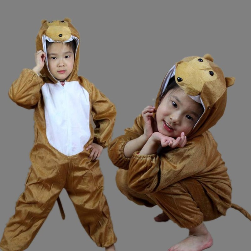 Home Animal Brown Dog Cosplay Costume Children Short Sleeve Pajama Funny Cool Cartoon Suit Halloween Kid Boy Girl Disguise Fantasias