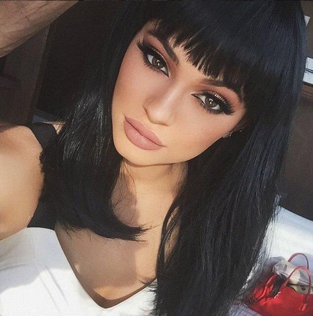 Aliexpress Com Buy Kylie Jenner Hairstyle Silk Black Straight Hair
