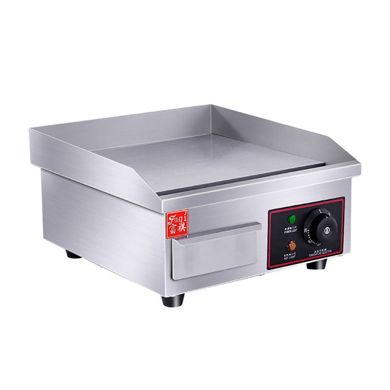 Commercial Electric Grill Barbecue Kitchen BBQ Grill Counter Electrical Stainless Steel Griddle Churrasqueira Eletrica EG-818B