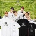 2017 Astro KPOP K-POP Álbum Camisas Casuais Roupas de Algodão Tshirt T Shirt Tops de Manga Curta T-shirt