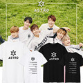 2017 KPOP Astro Album Shirts K-POP Casual Cotton Clothes Tshirt T Shirt Short Sleeve Tops T-shirt