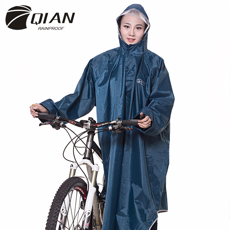 Image 5 - QIAN RAINPROOF Professional Adult Long Thicker Raincoat With 