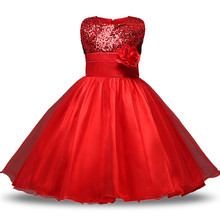 Girls Sequins Ball Gown Newborn Toddler Girl Baptism Dress 1 Year Birthday Party Infant Baby Girl Clothes Costume Vestidos 5T