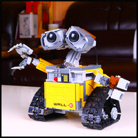 Factory Price 687Pcs Building Blocks Toy Robot WALL E DIY Assemble Figure Educational Brick Brinquedos For