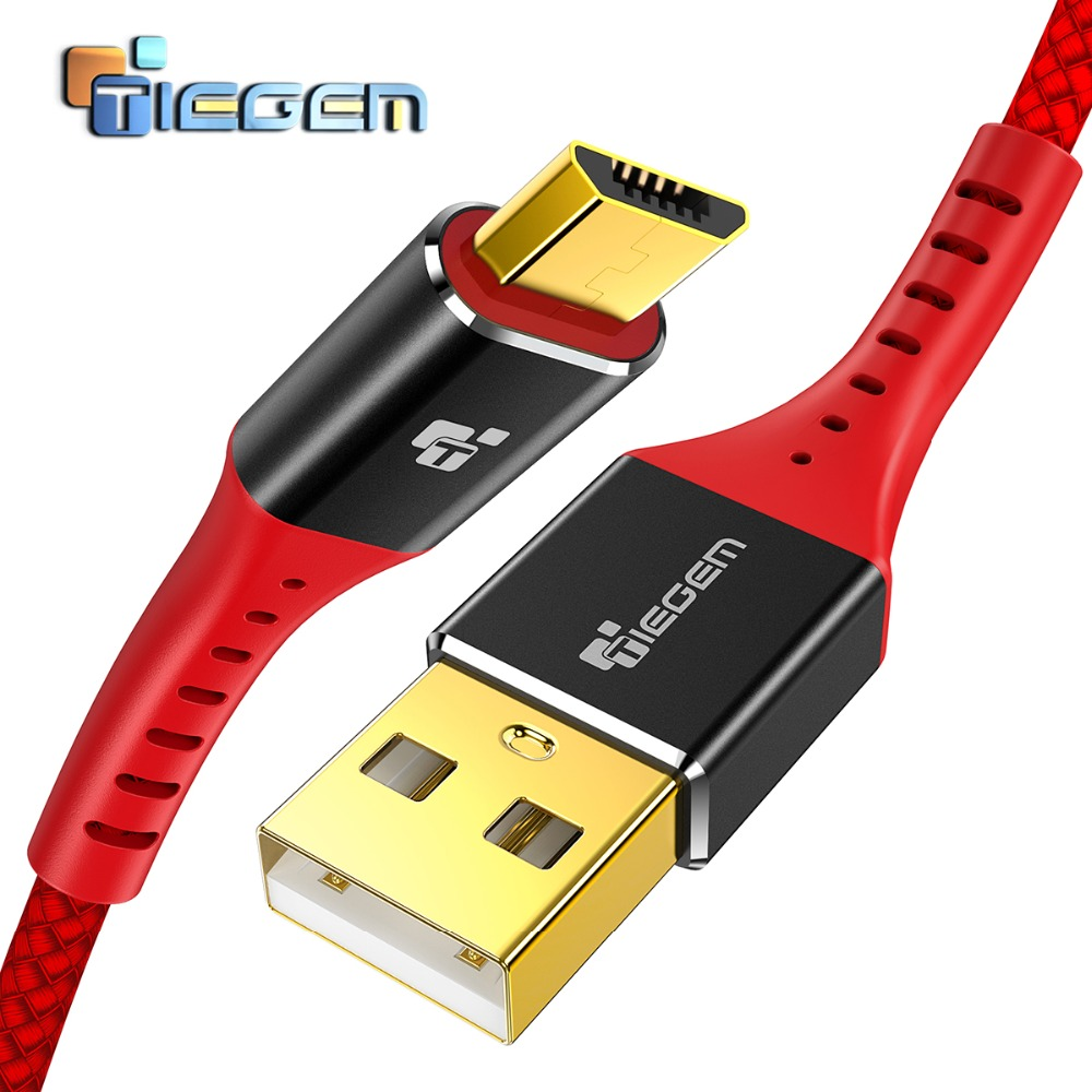 5V2A Micro USB Cable, Tiegem Fast Charging Mobile Phone USB Charger Cable 1M 2M 3M Data Sync Cable for Samsung HTC LG Android