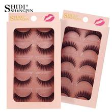 SHIDISHANGPIN 5 Pairs Mink Eyelashes 3d Lashes Natural False Fake Makeup Tool maquiagem