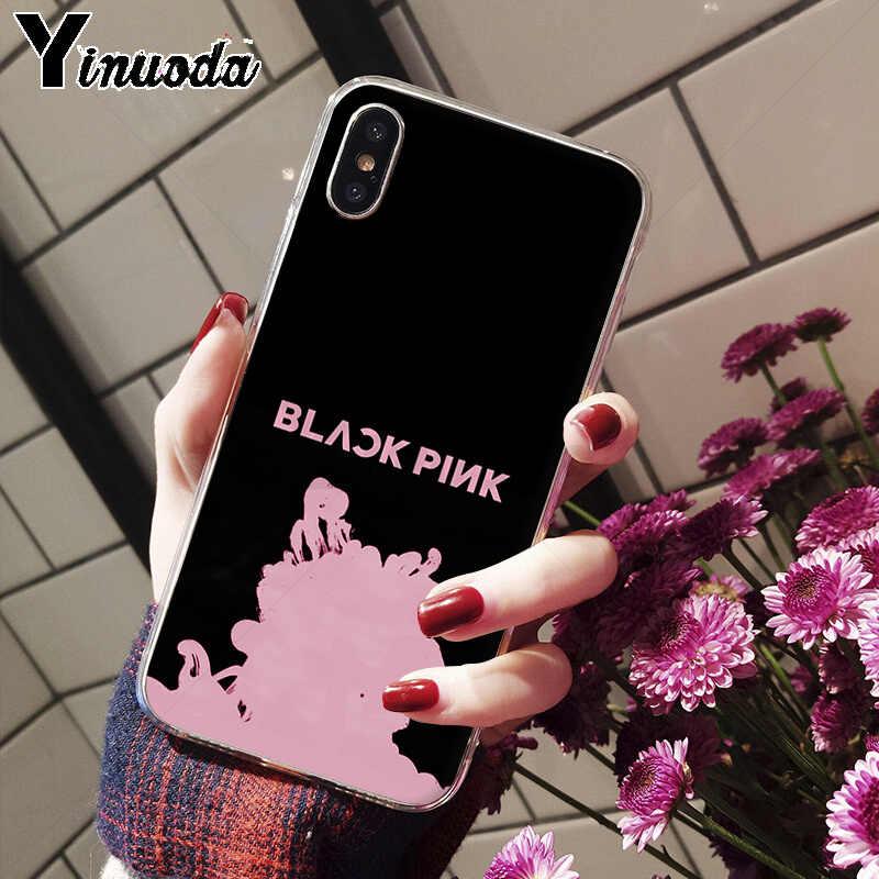 Yinuoda черный, розовый, черный, розовый kpop, Новое поступление, чехол для телефона для Apple iPhone 8, 7, 6, 6S Plus, X, XS, MAX, 5, 5S, SE, XR, чехол