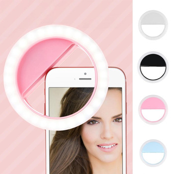 2019 Usb Usb Charging Selfie Ring Led Light Lamp Mobile Phone Lens LED Selfie Lamp Ring Flash for Iphone for Samsung Xiaomi 1