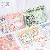 1 Pack Gift Voor U Serie Journal Materiaal Tas Set Scrapbook Sketchbook Diy Sickers Bokmark Evelope Mmo Pad Set-in Stickers voor briefpapier van Kantoor & schoolbenodigdheden op